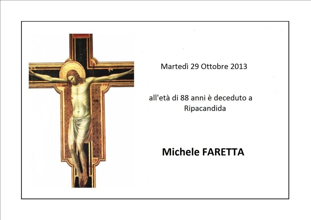 manifesto-funebre Michele FARETTA