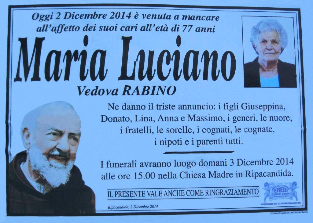 LUCIANO Maria