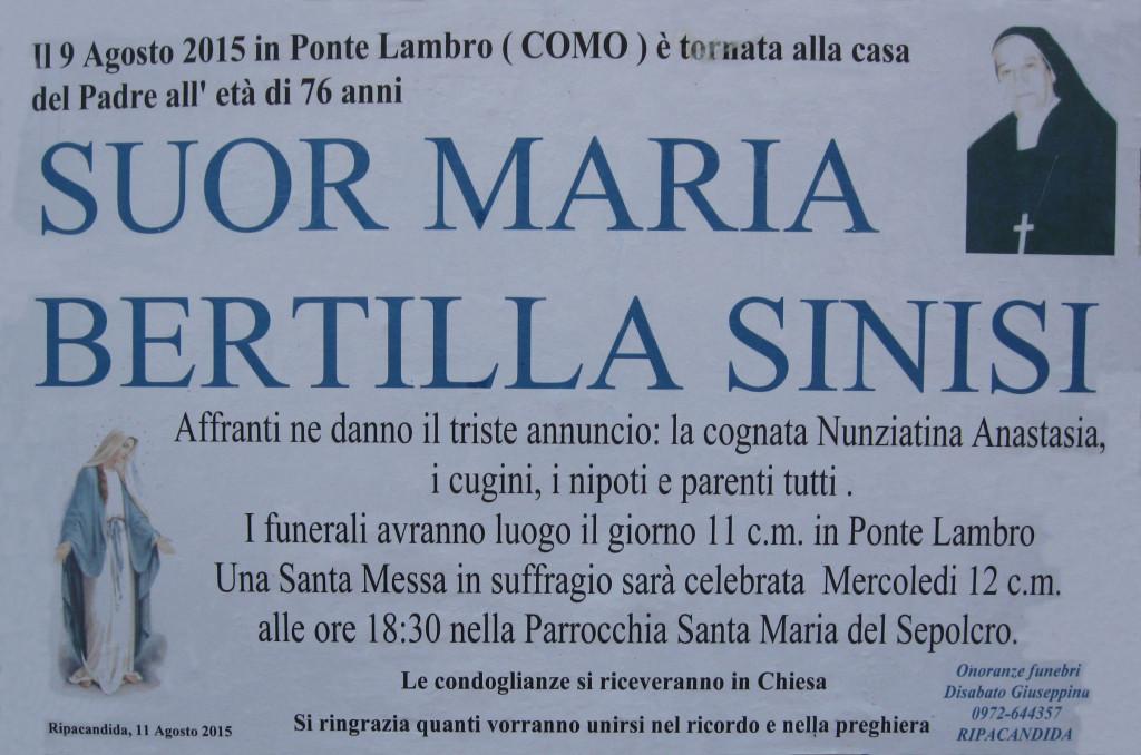SINISI Suor Maria Bertilli