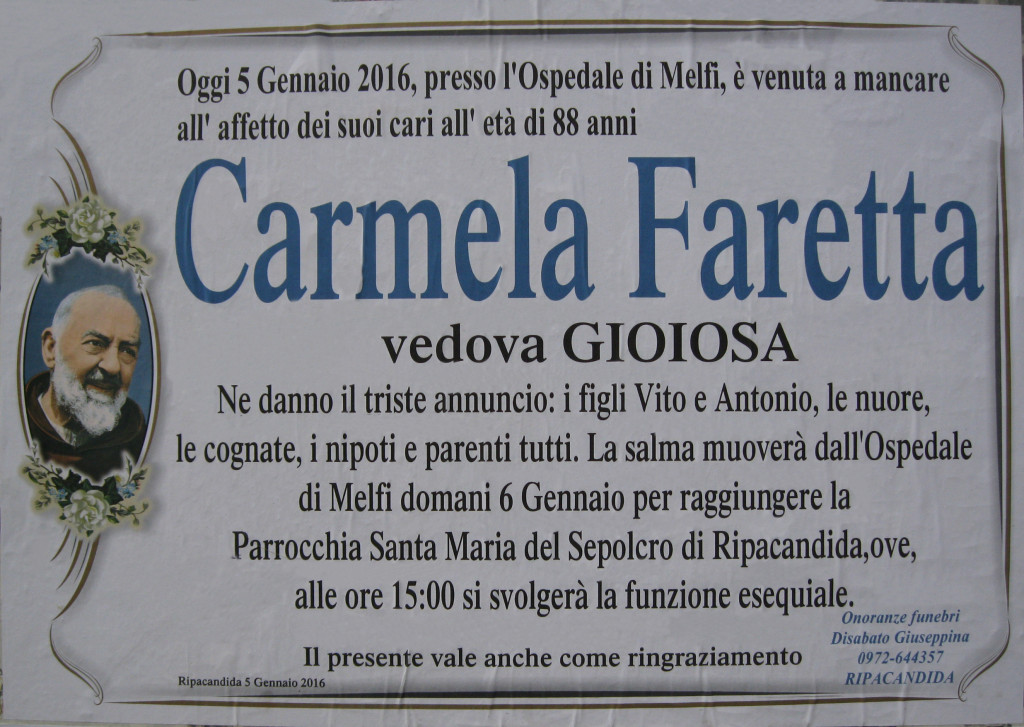 FARETTA Carmela