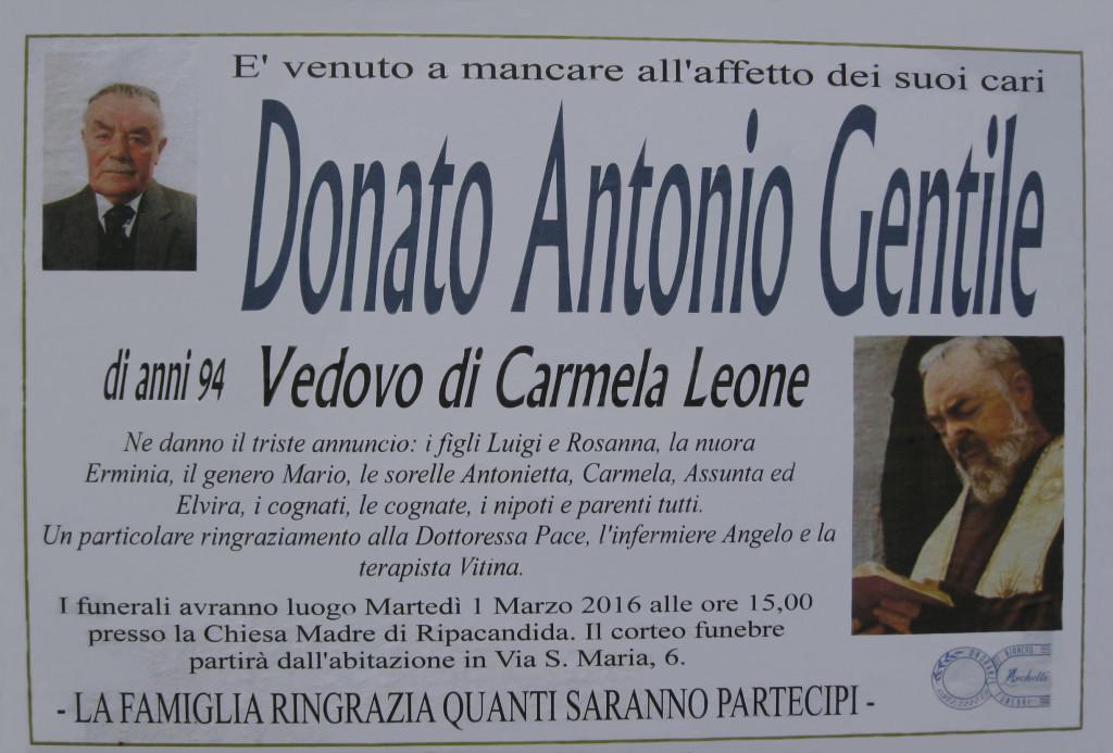 GENTILE Donato Antonio