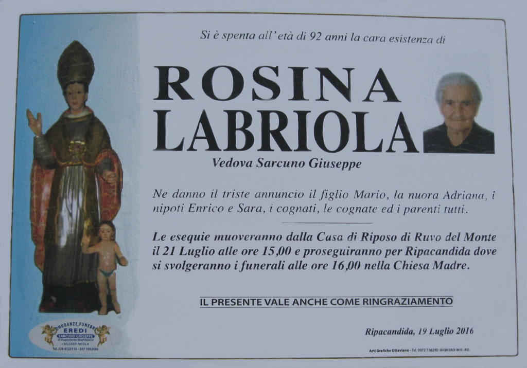 LABRIOLA Rosina (19-07-2016)